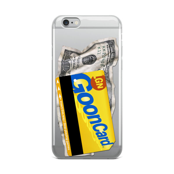 Goon Card Transparent iPhone Case - LaGoon Goods
