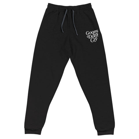 Goons Don't Cry Embroidered Joggers - LaGoon Goods
