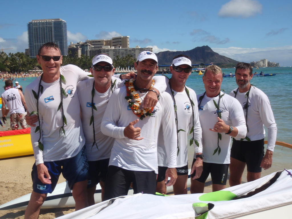 Steve Cole and Mooloolaba Outrigger win Molokai Hoe two years running!