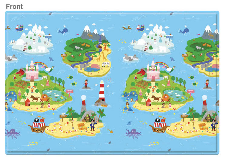 REGULAR Double Sided Play Mat – Magical Island