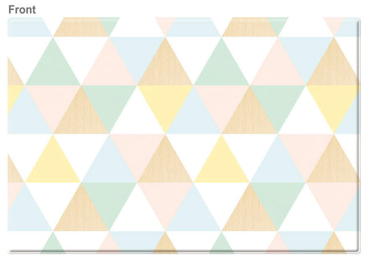 LARGE Double Sided Play Mat – Pastel Triangle