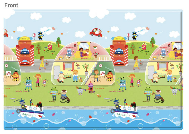 REGULAR Double Sided Play Mat – Robot City
