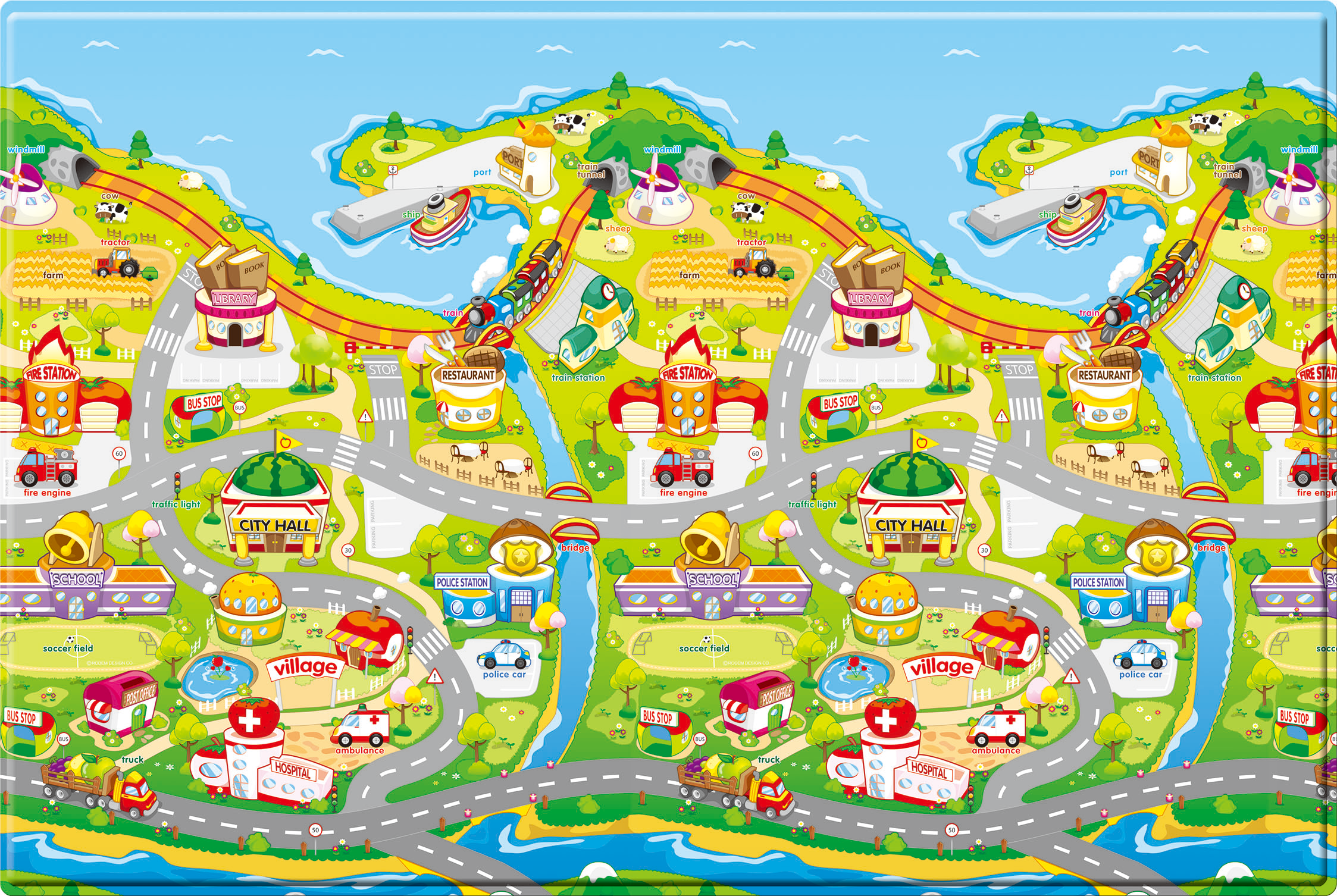 Comflor Double Sided Play Mat – Fruit Farm