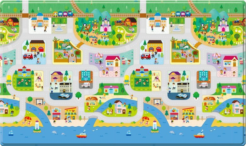 Dwinguler Double Sided Play Mat – Big Town