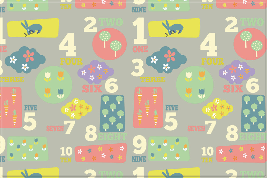 LARGE Double Sided Play Mat – Letters and Numbers