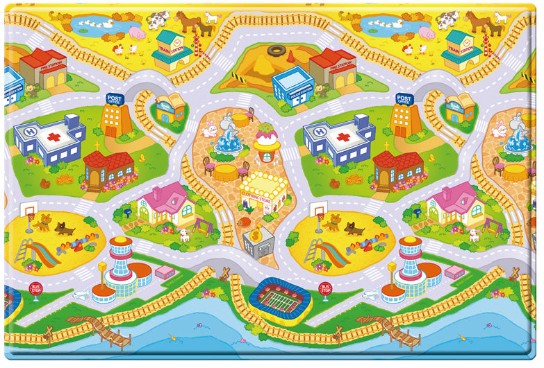 Dwinguler Double Sided Play Mat – My Town