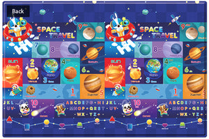 LARGE Double Sided Play Mat – Space Rabbit