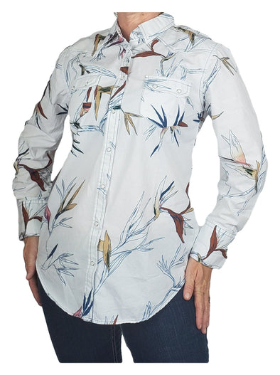 Bird of Paradise Cotton Hawaiian Print Western Shirt For Women Women's Clothing Horse and Soul Western Wear Small