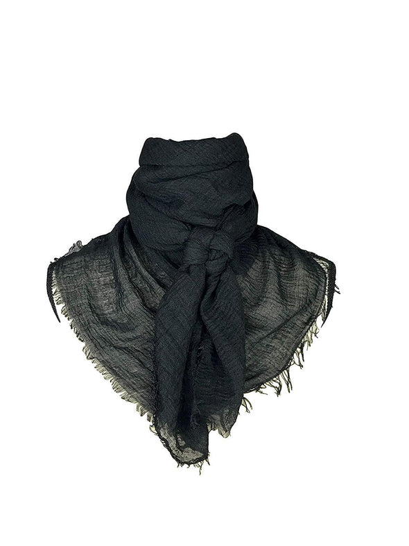 "Extra Large Cotton Wild Rag Buckaroo Western Scarf 43"" x 43"" Apparel Horse and Soul Western Wear Black"