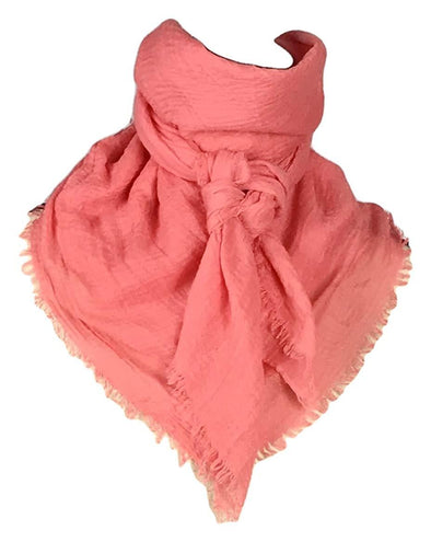 "Extra Large Cotton Wild Rag Buckaroo Western Scarf 43"" x 43"" Apparel Horse and Soul Western Wear Coral"