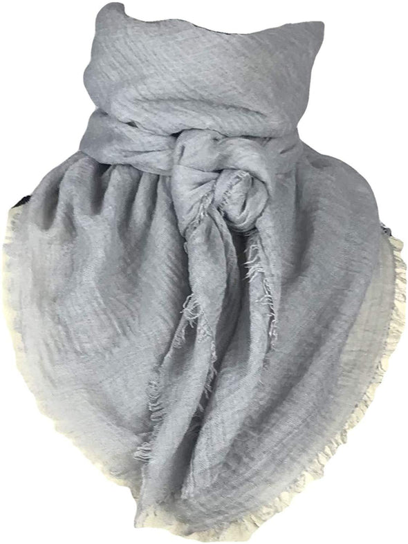 "Extra Large Cotton Wild Rag Buckaroo Western Scarf 43"" x 43"" Apparel Horse and Soul Western Wear Light Gray"