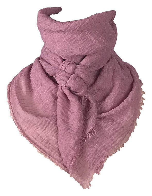 "Extra Large Cotton Wild Rag Buckaroo Western Scarf 43"" x 43"" Apparel Horse and Soul Western Wear Light Mauve"