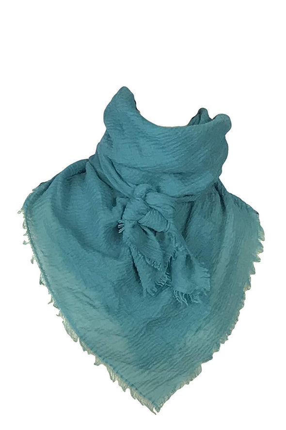 "Extra Large Cotton Wild Rag Buckaroo Western Scarf 43"" x 43"" Apparel Horse and Soul Western Wear Teal"