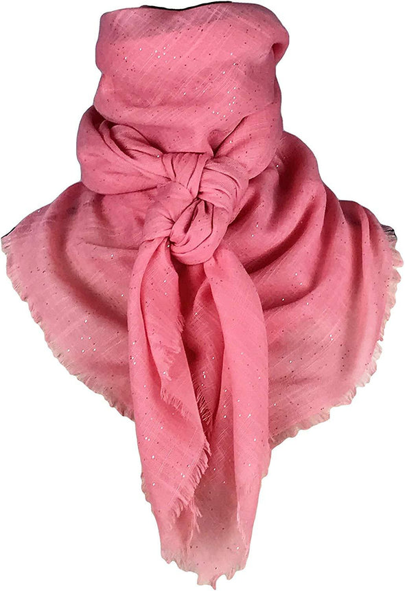 "Extra Large Cotton Wild Rag Solid Colors 43"" x 43"" Apparel Horse and Soul Western Wear Coral"