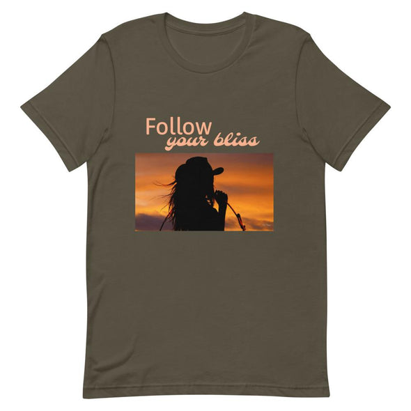 Short-Sleeve T-Shirt Follow Your Bliss Cowgirl Horse & Soul Western Wear Army S
