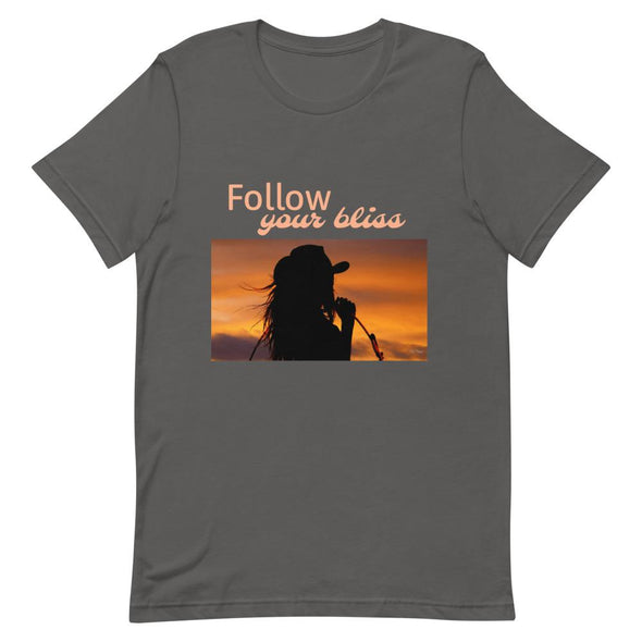 Short-Sleeve T-Shirt Follow Your Bliss Cowgirl Horse & Soul Western Wear Asphalt S