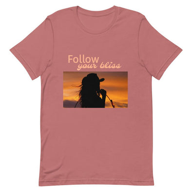 Short-Sleeve T-Shirt Follow Your Bliss Cowgirl Horse & Soul Western Wear Mauve S