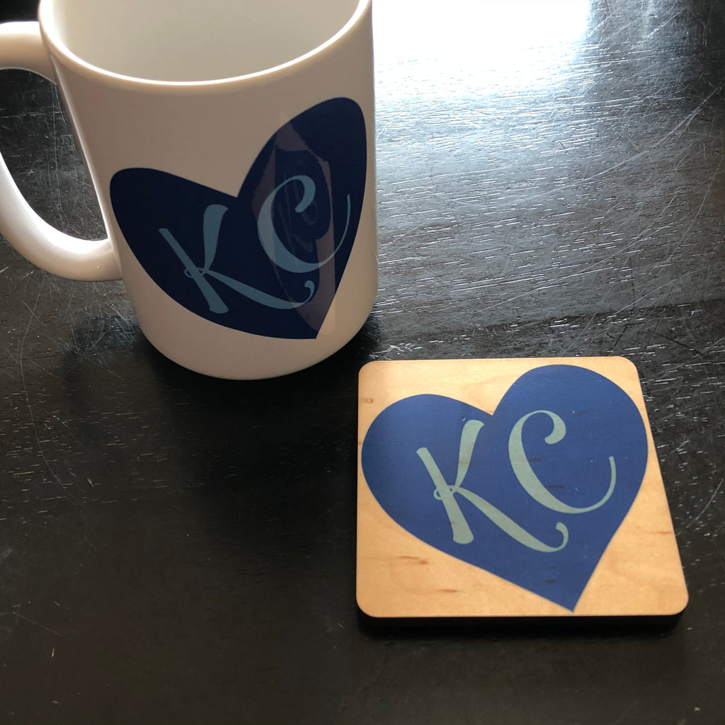 KC Blue Heart Mug