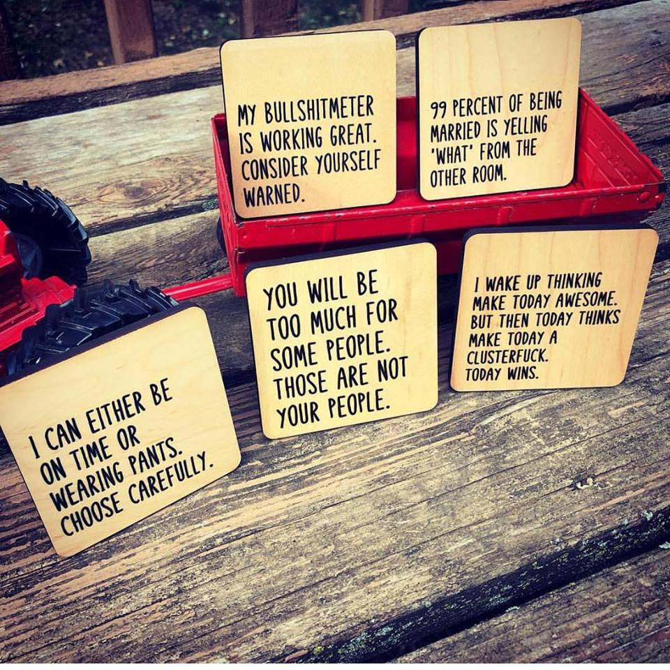 Those are not your people coaster set