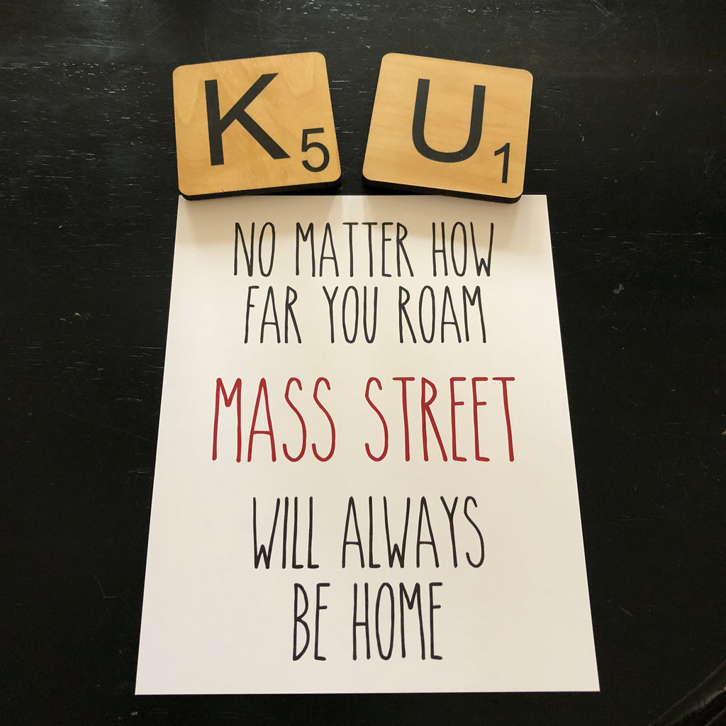 No matter how far you roam, Mass Street will always be home. Print