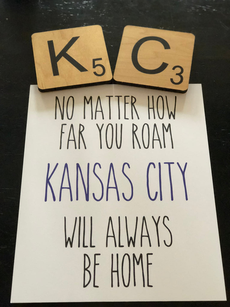 No matter how far you roam, Kansas City will always be home. Print