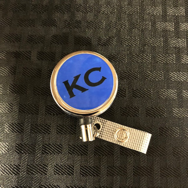 Premium Metal Badge Reel Blue KC