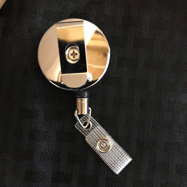 Premium Metal Badge Reel Grey KC