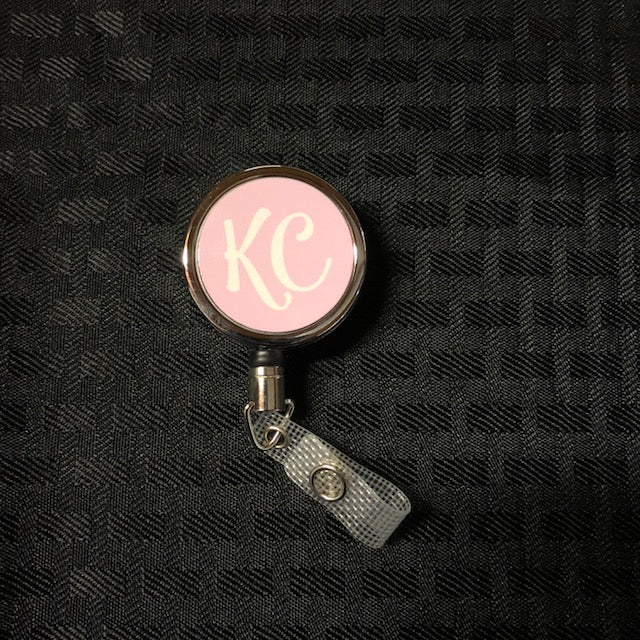 Premium Metal Badge Reel Pink KC