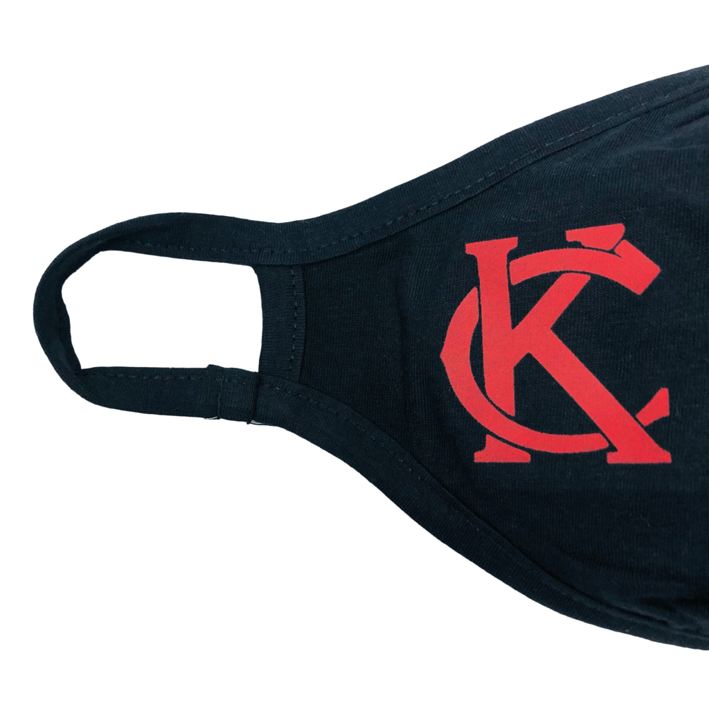 Fitted Mask Black with Red KC