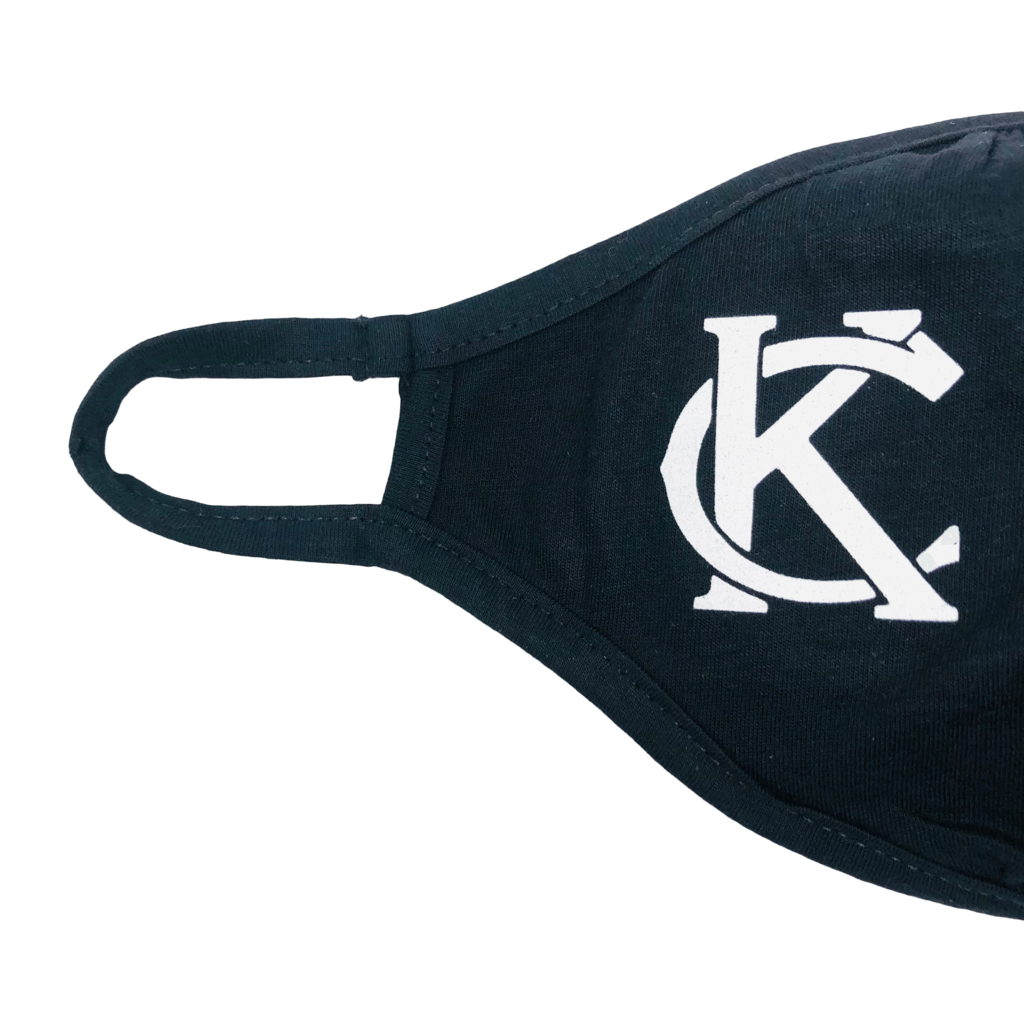 Fitted Mask Black with White KC
