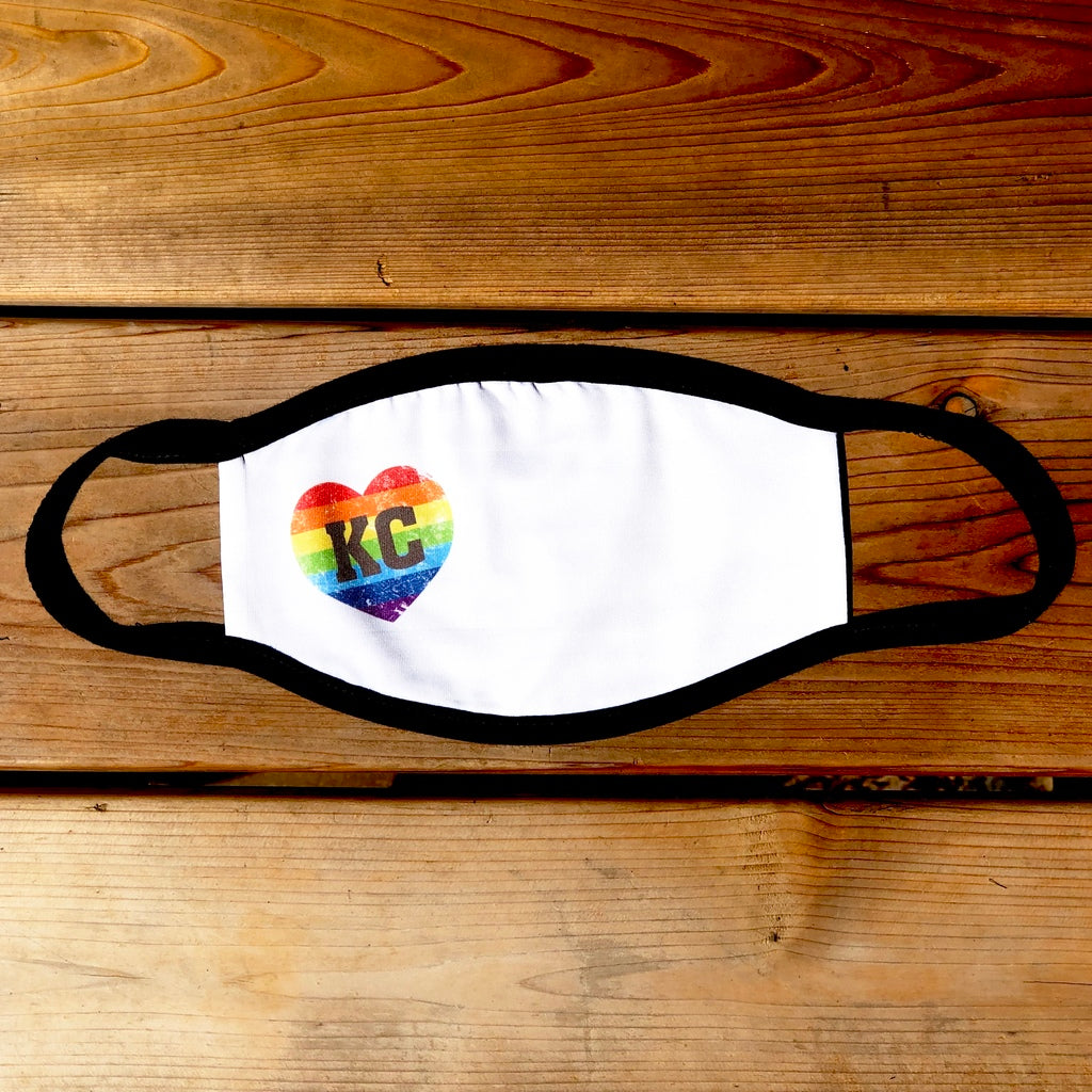 KC Pride Rainbow Heart Face Mask