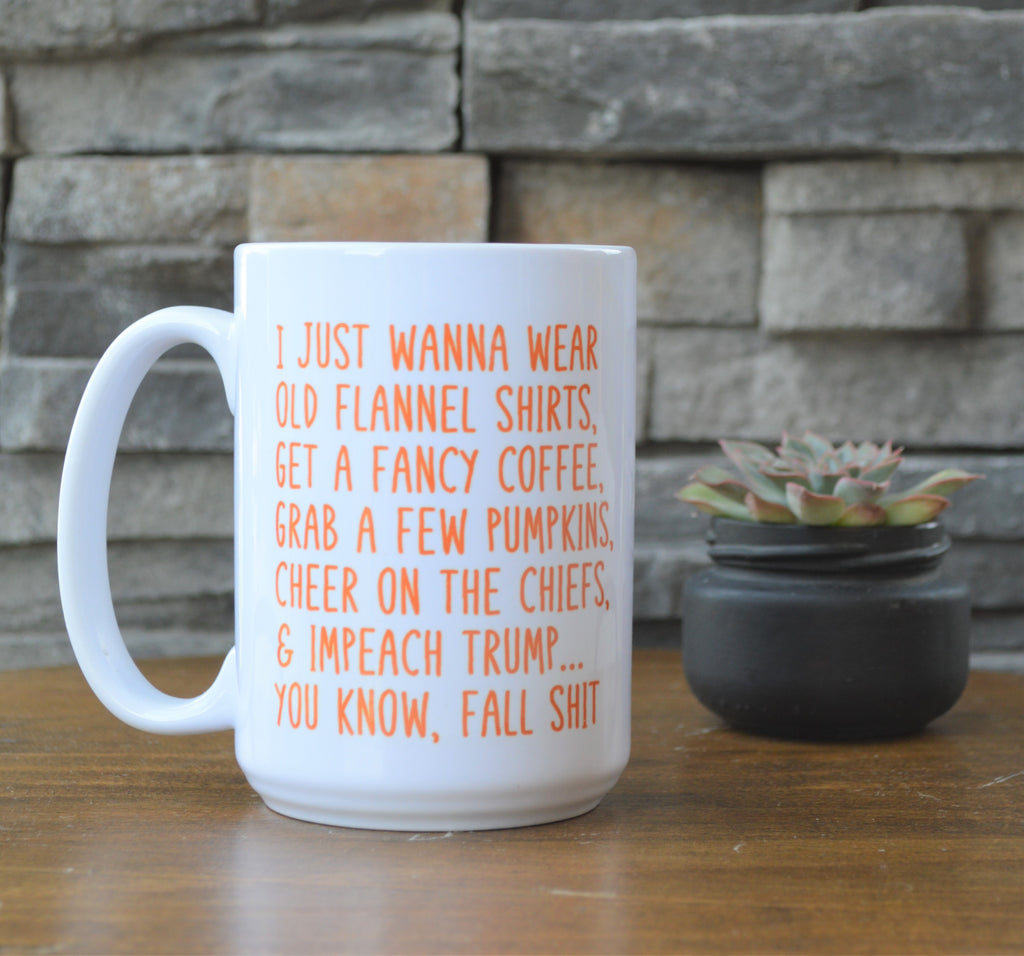 Impeach Trump and Fall S... Coffee Mug funny meme mug