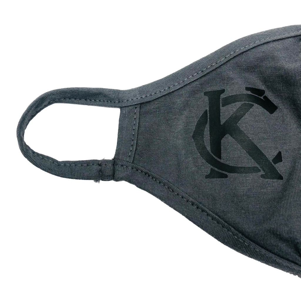 Fitted Mask Dark Grey with Black KC
