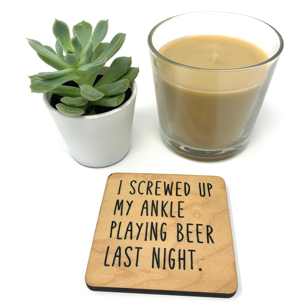 Beer Drinking Funny Coaster