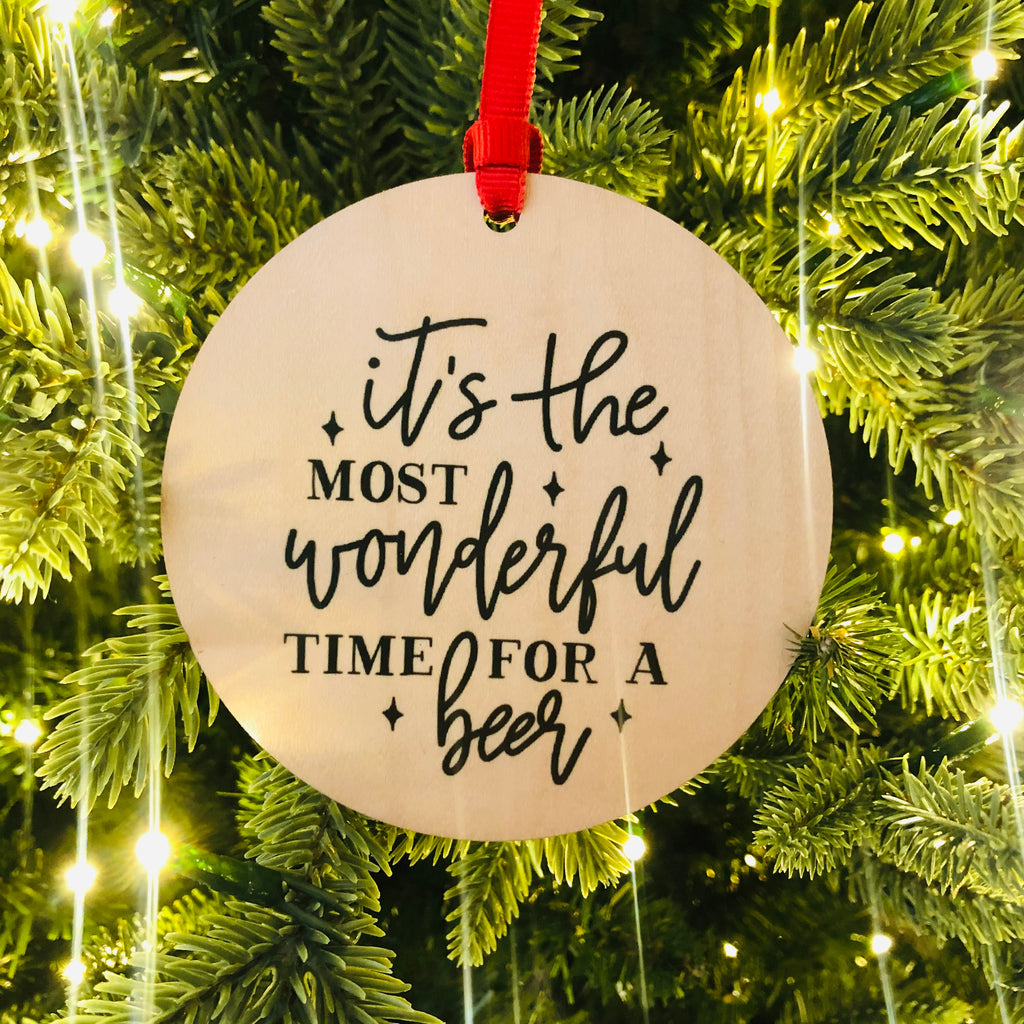 It's the Most Wonderful Time for a Beer Ornament