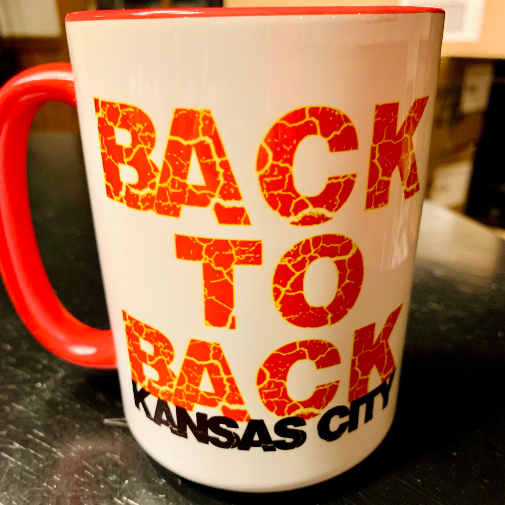BACK TO BACK KC coffee mug