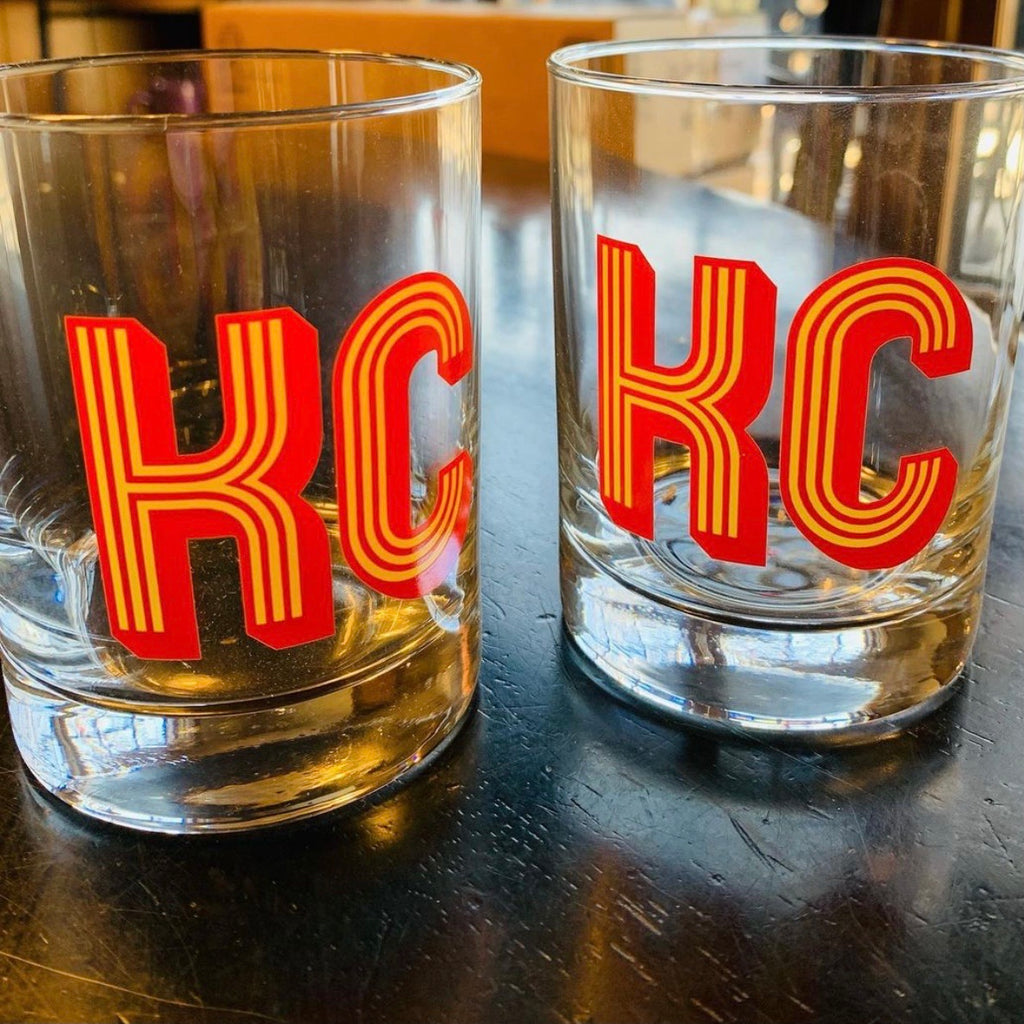 KC Retro Highball Glass Set