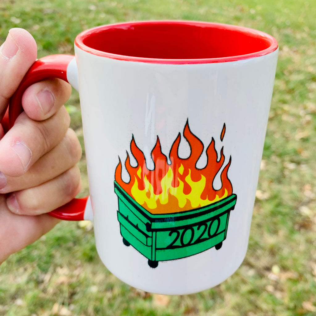 2020 Dumpster Fire coffee mug