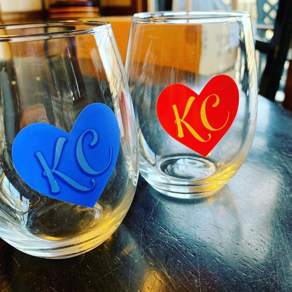 Kansas City Pride Stemless Wine Glass Set
