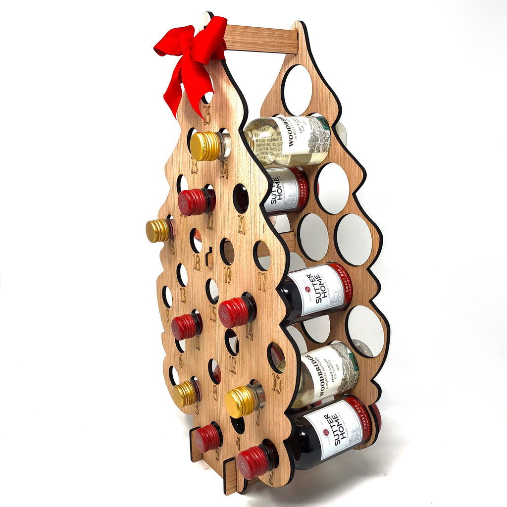 Wine Advent Calendar Tree Boozy Drink Holder