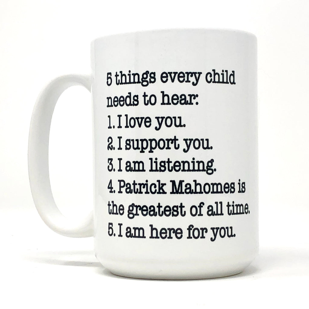 5 Things Every Child Needs to Hear: KC Football Coffee Mug Set