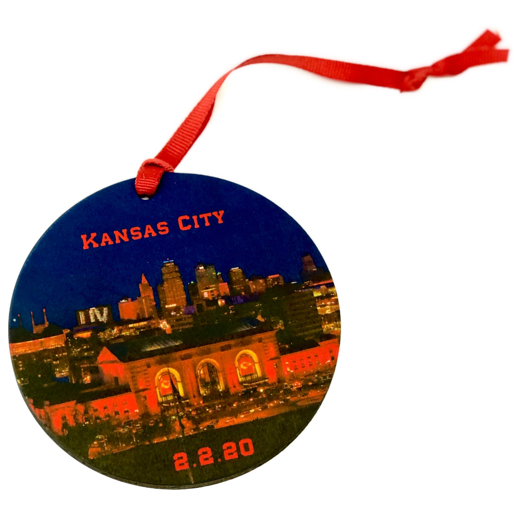 Kansas City Football Champs 2.2.20 Large Ornament