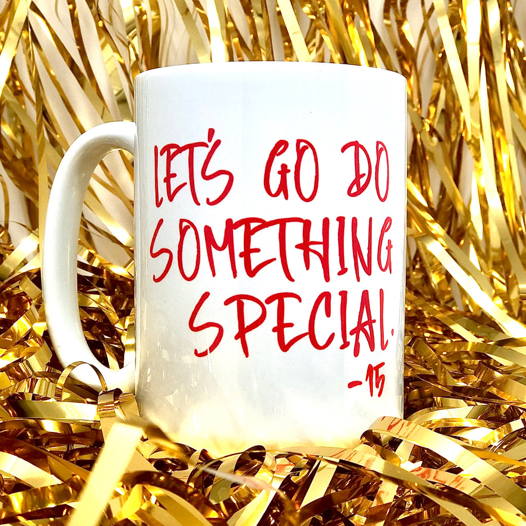 Let's Do Something Special KC Football Coffee Mug