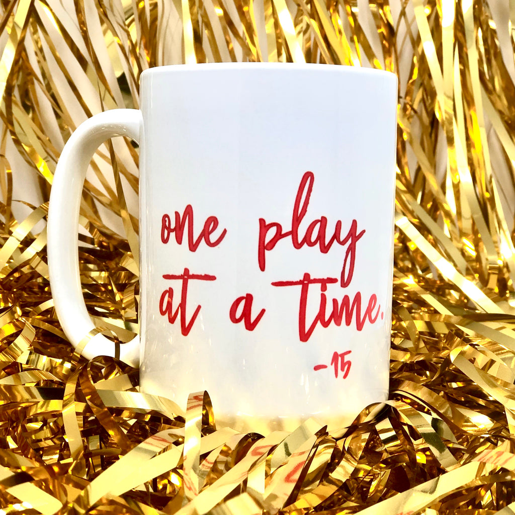 One Play at a Time KC Football Coffee Mug