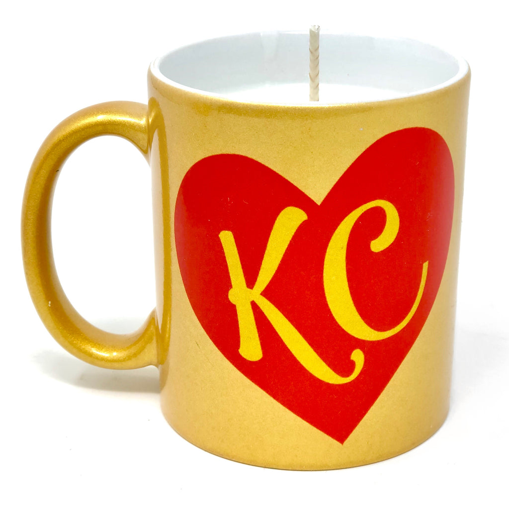 KC Heart Gold Candle Mug