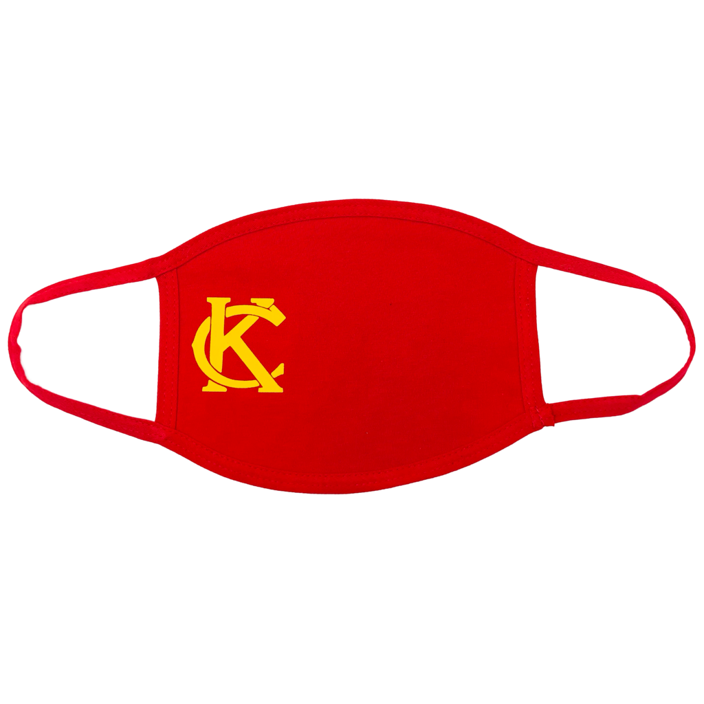 100% Cotton Mask Red with Yellow KC