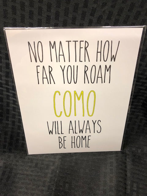 Como Will Always Be Home Art Print