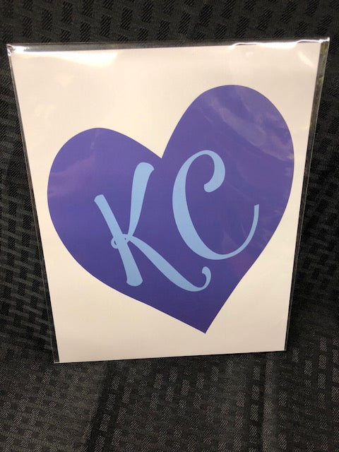KC Blue Heart Art Print