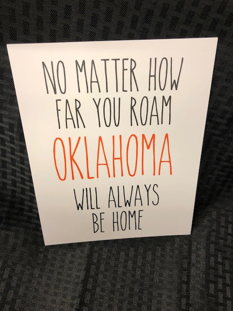 Oklahoma Will Always Be Home Art Print