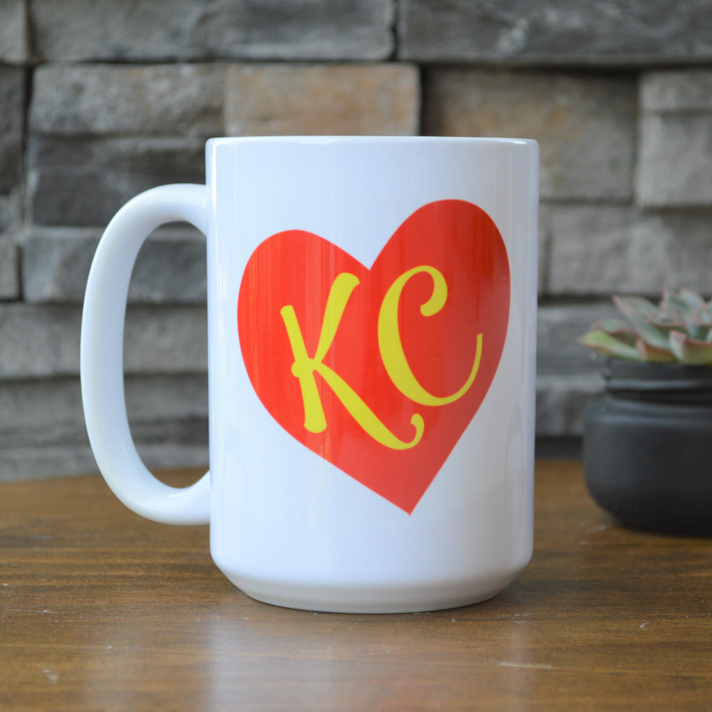 KC Red Heart Coffee Mug